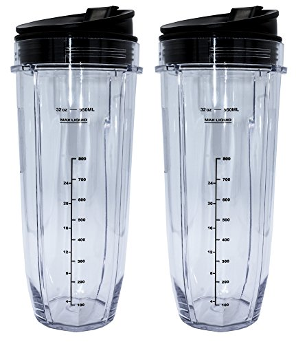 Blendin 2 Pack 32 Ounce Cup with Sip N Seal Lids, Compatible with Nutri Ninja Auto-iQ 1000W and Duo Blenders Minnesota