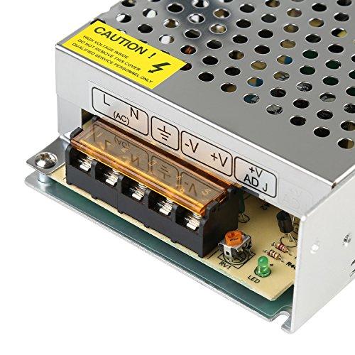 LEADSTAR 12V 5A 60W Trafo Transformator Adapter Netzteil Schaltnetzteil Stromversorgung für LED Streifen Strip und weitere Geräte mit DC 12V