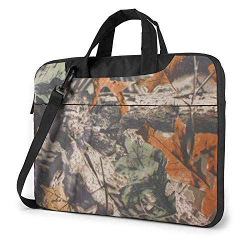 Army Texture Camouflage Tree Laptop Shoulder Messenger Bag,Laptop Shoulder Bag Carrying Case with Handle Laptop Case Laptop Briefcase 14 Inch Fits 13 inch Netbook/Laptop