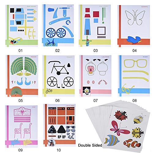 Starworld 3d-Schablonen, 3d, Bücher für Doodle-Muster, mit transparenten, Geschenk für Kinder (20VERSCHIEDENEN 40Blatt Muster, verschiedene Designs) - 5