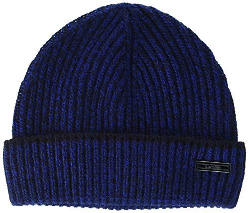 Calvin Klein Beanie Gorro/Sombrero, CK Navy, OS para Hombre