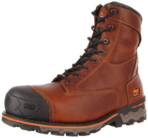 Timberland PRO Men's Boondock Waterproof Steel Toe Work Boot,Brown,7 M US