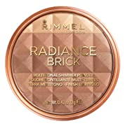 Rimmel London Radiance Shimmer Brick Pressed Bronzer, Light-As-Air Contouring Formula, 002 Medium, 1...