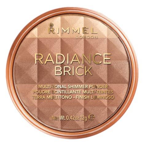 Rimmel London Shimmer Brick Bronzer Powder, Polvos bronceadores, Tono 2 - 12 g