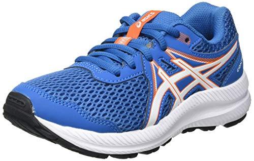 Asics Contend 7 GS, Road Running Shoe, Reborn Blue/White, 36 EU