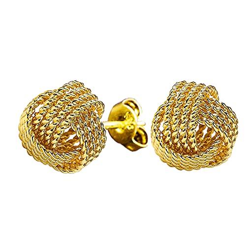BULABULA Solid Fashion Jewelry - Pendientes de malla con bolas de malla, regalo para mujeres y niñas.