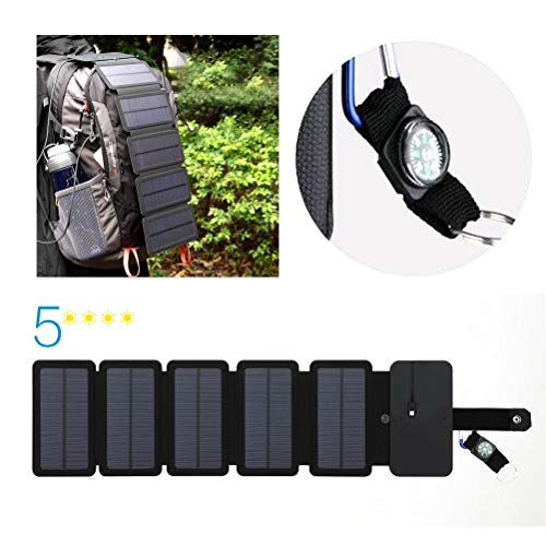 Opvouwbare oplader op zonne-energie, 9 W, 5 V/2 A, op zonne-energie voor noodopladen, camping in de buitenlucht