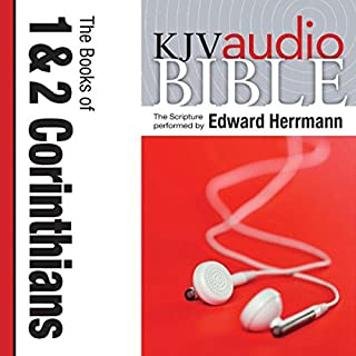 King James Version Audio Bible: The Books of 1 and 2 Corinthians cover art