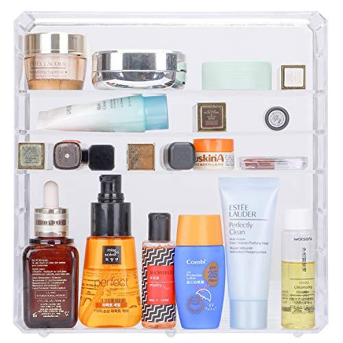 Lujoso organizador de cosméticos de acrílico transparente con 8 cajones #29051