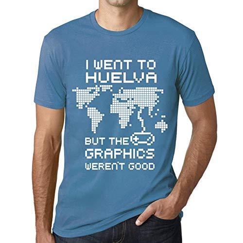 Hombre Camiseta Vintage T-Shirt Gráfico I Went To HUELVA Azul