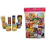 Tanner 0329.1 - Lebensmittel Set &  2079.3 - Großer Kaufladenbeutel, verschiedene Marken (Auswahl nicht möglich)