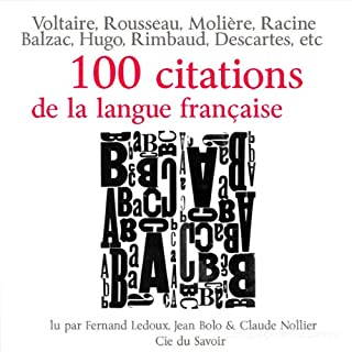 Couverture de 100 citations de la langue française