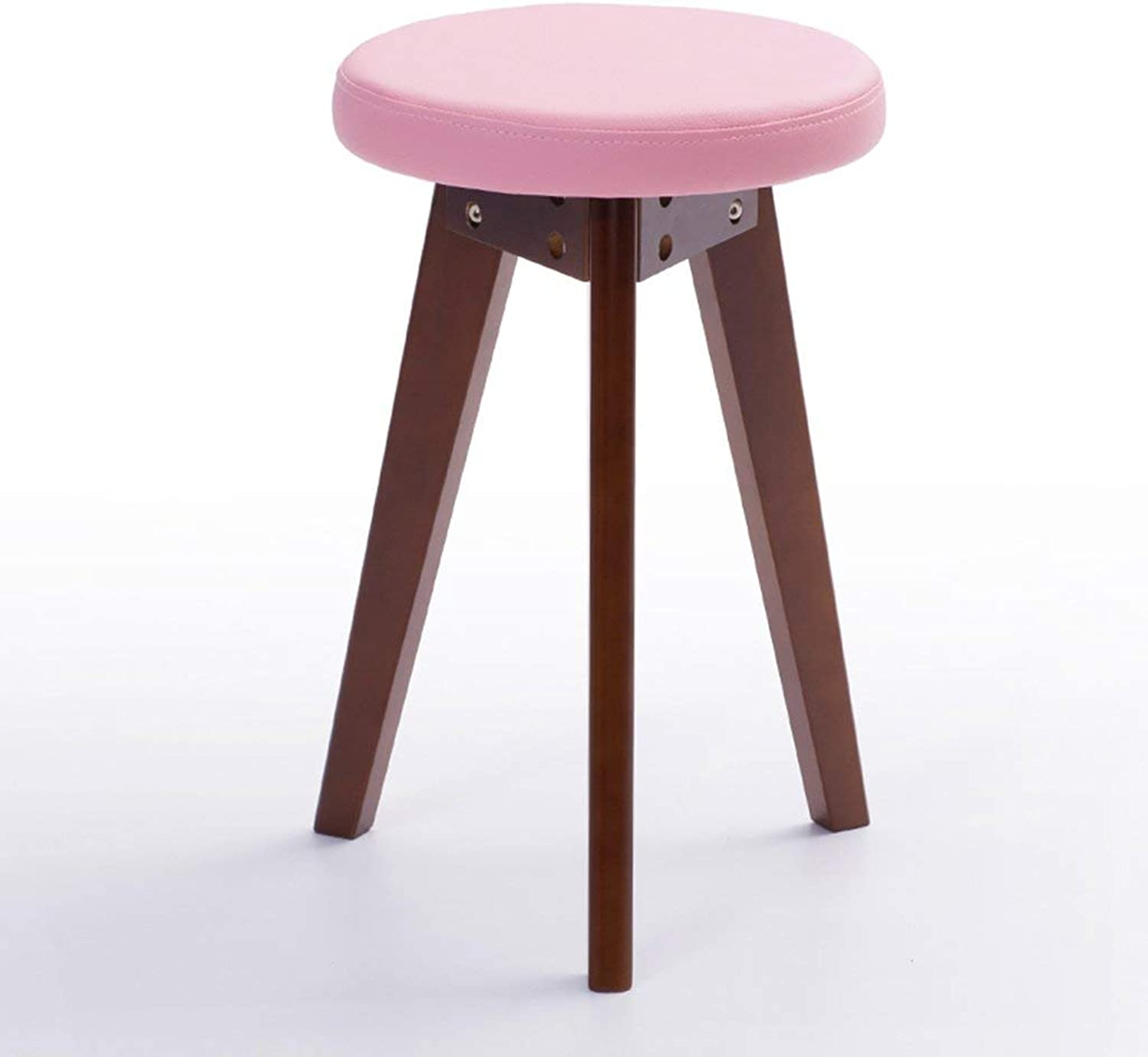JZX Practical Chair Stool, Solid Wood Fashion Compact Lightweight Durable Stable Round Stool,The Best Choice for a Restaurant Cafe Lounge
