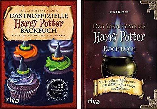 Geschenkidee Magische lekkernijen uit de wereld van Harry Potter van Tom Grimm, Katja Böhm, Dinah Buchholz 1. Het onofficiële Harry Potter bakboek & 2. Het onofficiële Harry Potter kookboek