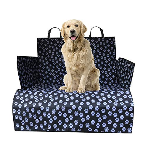 WeFine Kofferraumwanne für Hunde Universal wasserdichte Kofferraumabdeckung mit Stoßstangenklappe passend für PKW, 4x4, Kombi, LKW, Schrägheck, SUV (extra lang)