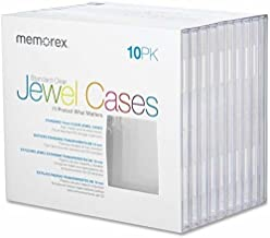 Memorex(R) CD Jewel Cases, Standard Size, Clear, Pack of 10