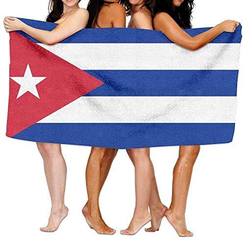 Qinckon Strandtuch Flagge von Kuba 31 X 51 Weiches leichtes Absorptionsmittel für Bad Schwimmbad Yoga Pilates Picknick Decke Handtücher