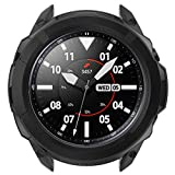 MOTONG for Samsung Galaxy Watch 3 TPU Protective Case - TPU Protective Case Cover + Bezel Ring Dial Protective Case Cover for Samsung Galaxy Watch 3 41MM (TPU Black, 41MM)