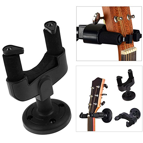 Zantec Cadeau voor kinderen, muziekinstrument voor bevestiging aan de muur voor gitaar, compatibel met de meeste bassen, ukelele gitaar viool muurbeugel met haak