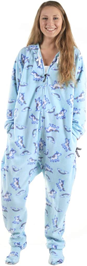Forever Lazy Footed Adult Onesies, One-Piece Pajama Jumpsuits for Men and Women, Unisex. with Detachable Feet. : Clothing, Shoes & Jewelry