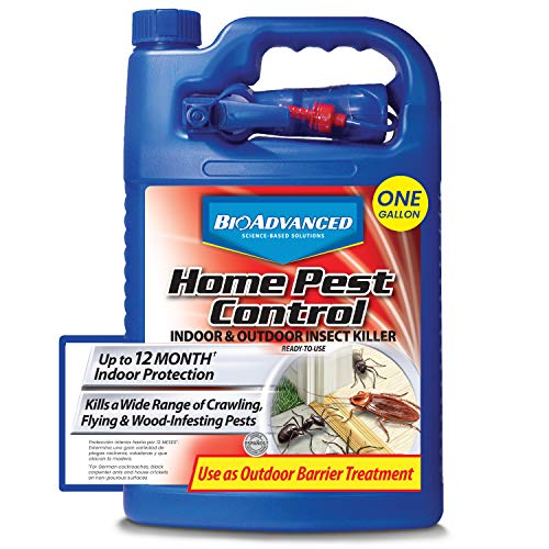 BioAdvanced 502795A Home Pest Control Indoor & Outdoor Insect Killer Ready-to-Use, 1 gallon