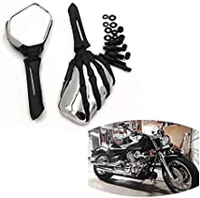 SMT-Claw Skull Mirror Compatible With Harley Heritage Springer Sportster Dyna Glide Softail V Rod Black [B00RW3FNK0]