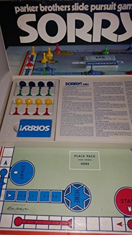 Vintage 1972 Sorry  - Parker Brothers Slide Pursuit Board Game