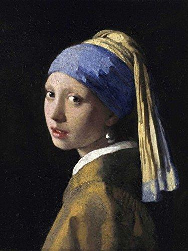 STAMPA-SU-TELA-INTELAIATA.Vermeer-Jan-Cm_77_X_58-Ragazza-Con-L'Orecchino-Di-Perla-Ragazza-Con-L'Orecchino-Di-Perla,-Quadro-su-tela-fine-art-Tradizionale,-Canvas-intelaiato-100%cotone-380gr