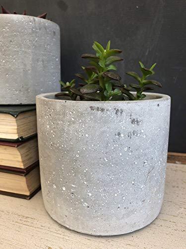 Homes on Trend Flowerpot Planter Plant Pot Flower Tub Concrete Wedding Centerpiece Decoration Rustic Grey Container Decorative Modern Décor