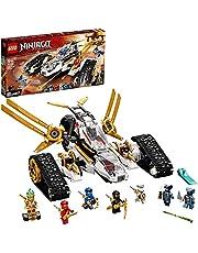LEGO 71739 NINJAGO Legacy Ultra Sonic Raider 4-i-1 fordonsbyggsats med motorcykel och plansleksak för barn och 7 minifigurer
