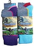 6 Pairs Fresh Feel Hike Boot Socks L10778 Ladies 4-7