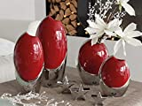 Dreamlight Moderno Jarrn Decorativo (Flores Jarrn de cermica rojo/plata 29x 15cm