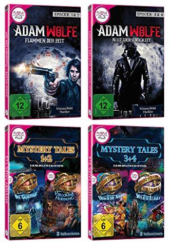 """Yellow Valley Wimmelbild-Spiele-Set """"Adam Wolfe 2 - 4"""" und """"Mystery Tales 1 - 4"""""""