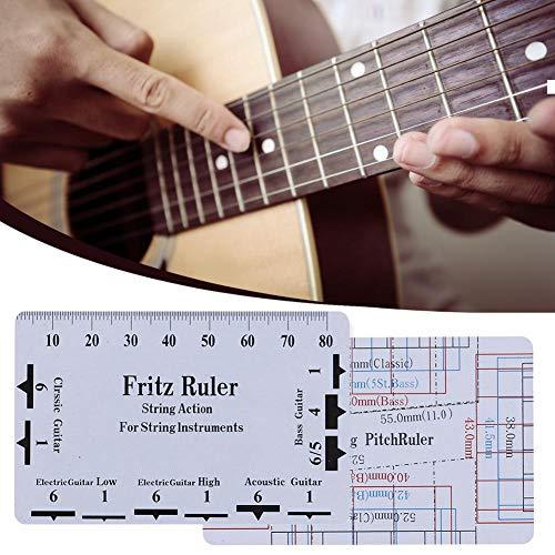 Regla de medición Paso de Cuerda Regla de Cuerda Medidor de acción Regla Guitarra barroca Paso de Cuerda bajo Herramienta Luthier 8.9 5.1cm