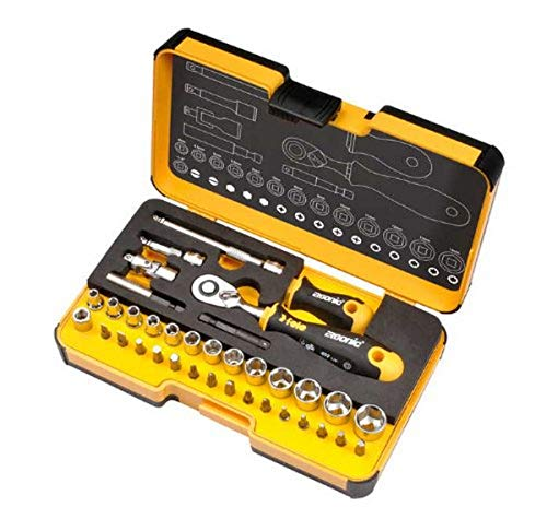 Felo 05783616 R-GO XL - Set de 36 herramientas con llave de carraca Ergonic