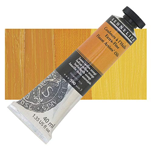Sennelier Couleurs à l'huile : 40ml Jaune indien Orange