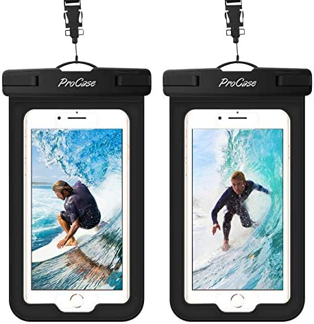 (2 Pack) ProCase Waterproof Phone Pouch Case...