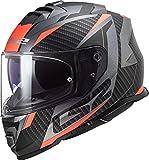 LS2 FF800 STORM RACER MOTO GP RACING COMPLETO CASCO ACU titanio mate FLUO