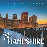 """New Hampshire 2022 Calendar: 12-month Calendar - Square Small Gorgeous Calendar 8.5x8.5"""" for planners with large grid for note"""