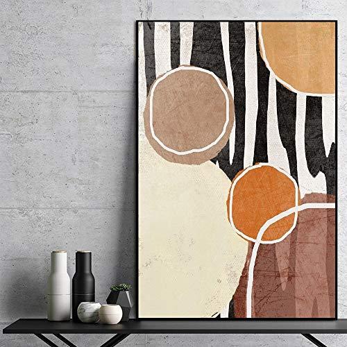 hetingyue Nordisches Plakat abstrakte geometrische Leinwand Wandkünstler Hauptdekoration Leinwand Wohnzimmer rahmenlose Malerei 70X100CM
