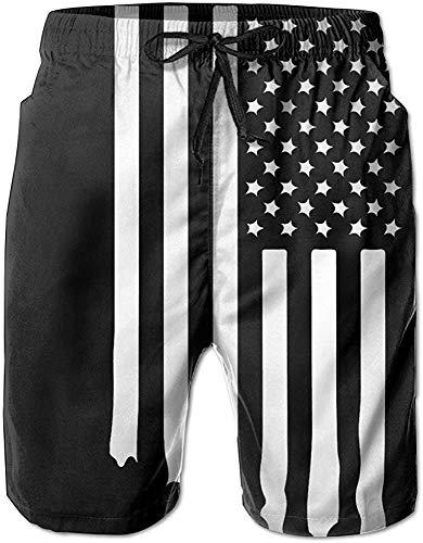 Love girl Herren Sportbekleidung USA Amerikanische Flagge Schwarz Weiß Sommer Schnelltrocknende Badehose Strandshorts Cargo Shorts