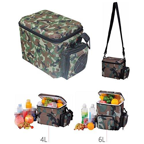 AMYMGLL 4L camouflage portatif portable chaud et froid voiture voiture dédiée petit réfrigérateur puissance 50W tension (12V) matière plastique poids 2.2kg taille 300 * 190 * 220 * mm
