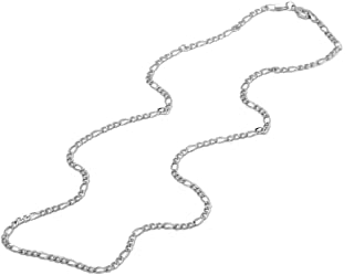 Pori Jewelers 925 Sterling Silver Figaro Chain Necklace -...