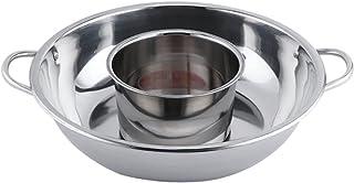 LXHDKDT Hot Pot, Fondueset, Fondue, Marmite, Faitout, Soup Pot, Pot Chaud De Diamètre De 32Cm / 34Cm, Plus Petit Pot Chaud...
