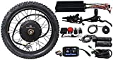 HALLOMOTOR Ebike Electric Bicycle Conversion Kit 48V 60V 72V 3000W Rear Brushless Motor Wheel 26' 100A Controller LCD Brake Electric Bicycle
