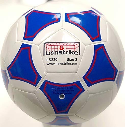 Lionstrike leichter Lederfußball Größe 3, Weiß - geeignet für Jungen / Mädchen im Alter von 3-7 Jahren
