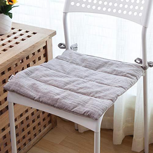 JBNJV Cojines Cuadrados para sillas de Comedor con Lazos, Suaves Cojines para sillas Cojín Lavable para Asiento Cojín Transpirable para Silla Sala de Estar Balcón Oficina-Azul Claro 50x50cm