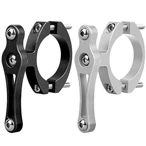 IWILCS Soporte de Adaptador de Portabidón, 2pcs Ajustable Tija de Sillín Manillar Clip Adaptador de Portabidón para Bicicleta