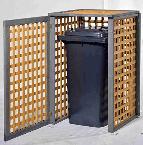 Holz Mülltonnenbox Kaprun für 1 x 240 Liter Mülltonne