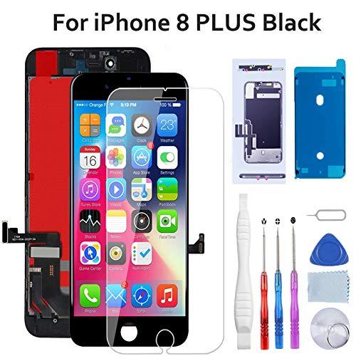 Beefix Pantalla para iPhone 8 Plus Negro, Reemplazo de Pantalla, 5.5